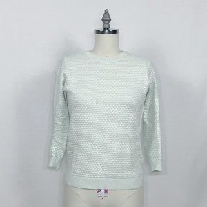 Ted Baker Mint Green 3/4 Sleeve 3D knit Sweater